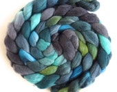 Finn Wool Roving - Hand Painted Spinning or Felting Fiber, Stand of Trees