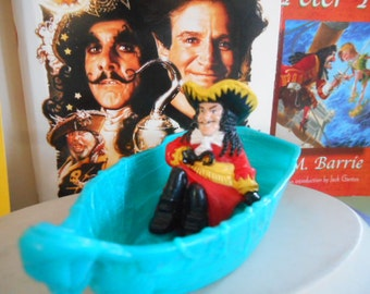 1991 Tristar ''Hook'' Captain Hook in Blue Boat Without Sail Toy Peter Pan toy