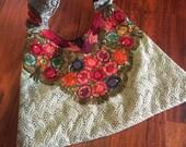 Embroidered Boho Purse, Vintage Bohemian Handbag Colorful  Tote, Tribal Ethnic Purse Roses Hobo Bag Embroidered Purse Hippie Purse Festival
