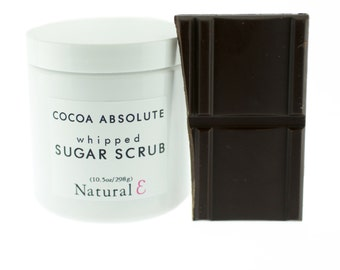 Chocolate Sugar Scrub Chocolate Body Scrub Cocoa Body Exfoliant Body Polish Cocoa Absolute