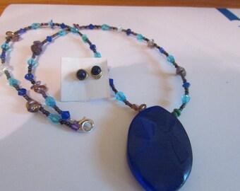 beaded lovely in blue set