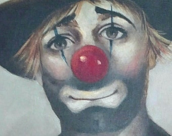 Clown Oil Painting by Brother Matthew Gallagher, O.S.F.