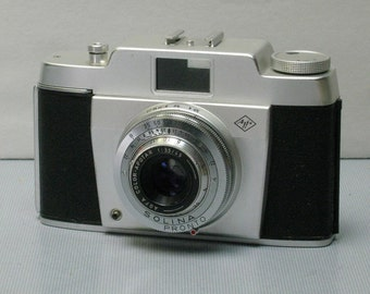 Vintage Film Tested Agfa Solina 35mm Film Camera with Case and Super Sharp Lens 1960-1962