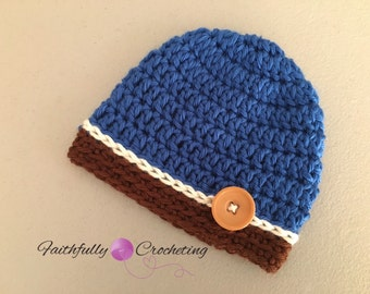 Newborn hat.. Blue beanie.. Photo prop. Ready to ship