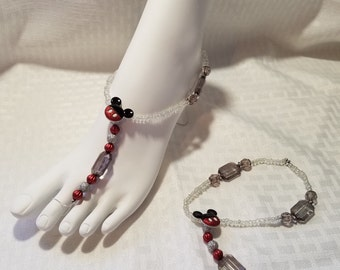 Disney Cruise, Foot Jewelry, Beach Jewelry, Flip Flop Accessory, Mickey Mouse Jewelry, Anklet