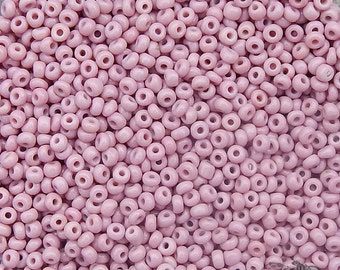 Vintage Venetian Italian Glass Seed Beads - size 9/0 Cheyenne Pink
