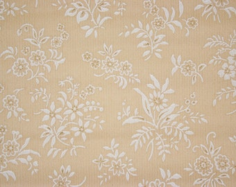 1920s Vintage Wallpaper White Flower Bouquets by the Yard--Made in Belgium