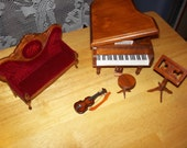 Dollhouse Miniatures Music Room/price reduced
