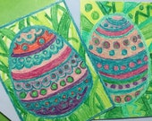 Set of two handmade Easter cards