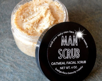 Face Scrub for Men. 4 oz / 118 mL. Peppermint Face Scrub. Dad Gifts. Father's Day. Father's Day Gift from Daughter. Funny Father's Day.