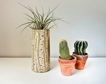 Handmade Pottery Vase, Birch Tree Vase