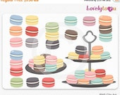 SALE Macaroon cookies, digital clip art set PNG (020)