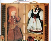 "Sewing Pattern for Making Trunk for 18"" Doll and 2 Smaller Boxes, Vintage Collectible Vogue 9688"