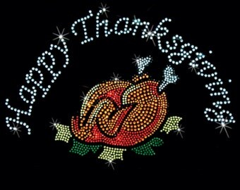 Pullover Hoodie Sweatshirt Thanksgiving Turkey Pumpkin Rhinestone Size Small - 3XL Plus Sizes Too Free Shipping Fall New Costume Women's