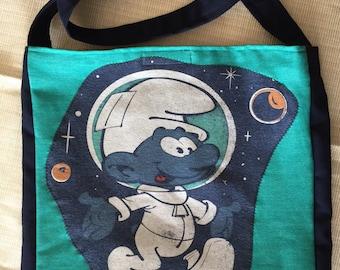 Space Smurf tshirt bag