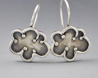 Unity- Sterling Silver Cloud Affirmation Earrings by Dana Evans Studio