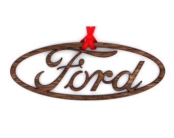 Wooden Ford Ornament