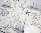 Buy 2 FREE SHIPPING Special!!   Mouse Pad, Computer Mouse Pad, Fabric Mousepad         Nautical Maps