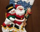 Holiday Time Ice Skating Felt Christmas Stocking