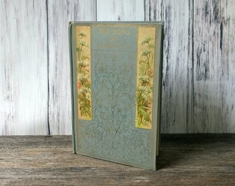 Song of Hiawatha Henry W Longfellow hardcover book decorative book antique book