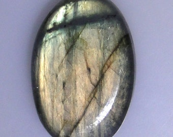 Labradorite oval cabochon, excellent multi color flash, 79.89 carats               043-10-611