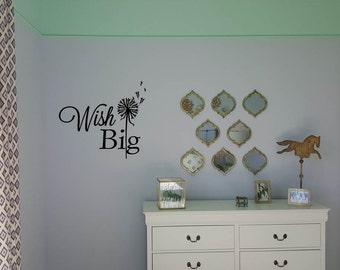 Wish Big Wall Decal with dandelion