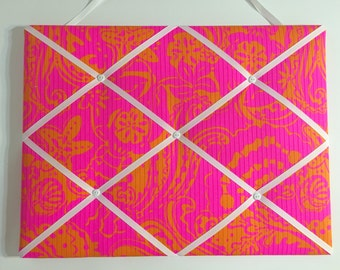 New memo board made with Lilly Pulitzer Seaesta fabric