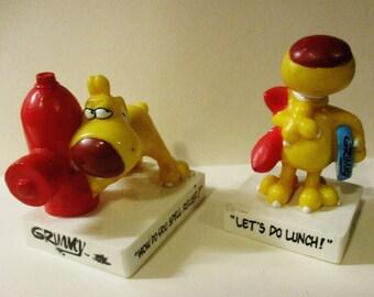 2 Vintage Grimmy Figurines 1989