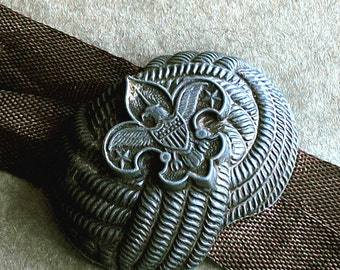 Vintage Boy Scout Scarf Slider Kerchief Cinch Uniform Accessory