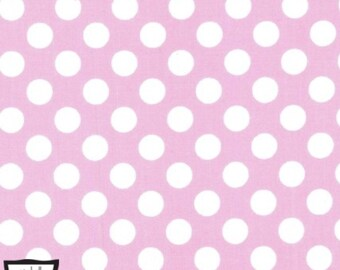 Ta Dot in Rose Pink and White Polka Dot for Michael Miller - 1 Yard