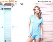 ON SALE Lingerie set - Bamboo Jersey T-Shirt and Panty set- Bamboo & Organic Cotton Sleepwear -Lingerie / Underwear Made to Order/Gift for h