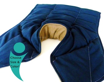 XL Large Neck Shoulder Back - Microwave Heat Pack, Heating Pad Rice Pack Fibromyalgia Rheumatoid Arthritis, Heavy Hot Cold Pack Gift for Dad