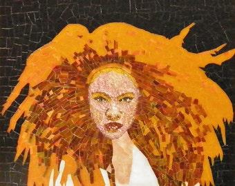 Jasmine Mosaic Portrait