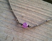 tiny amethyst choker // nickel free jewelry // amethyst jewelry // natural stone jewelry // HEY06A