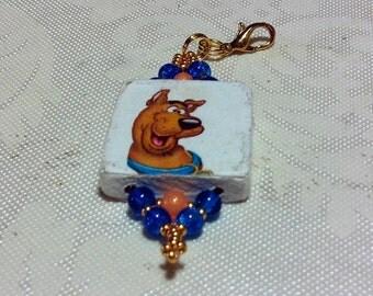 The Doo Dawg Zipper Pull handmade Fantasy Cartoon Native  Southwestern Tribal ethnic Boho Gypsy dog keychain