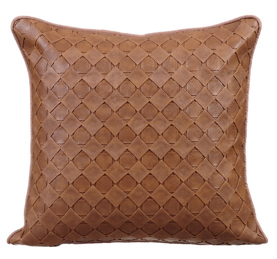 Decorative Pillows For A Leather Couch : Decorative Throw Pillow Covers Accent Pillow Couch Leather