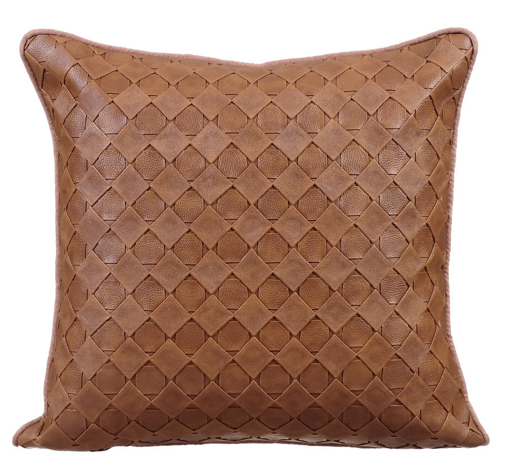 Leather Sofa For Accent Pillows: Decorative Throw Pillow Covers Accent Pillow Couch Leather