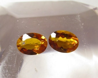 25% Off SALE AAA Matched Pair Citrine Quartz Gemstone Briolette Bead, Calibrated  Oval 10mm x 14mm