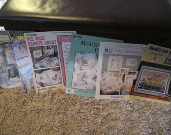 Baby Theme Cross Stitch Book Lot