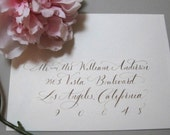 Custom calligraphy for Julianna - calligraphy envelope addressing