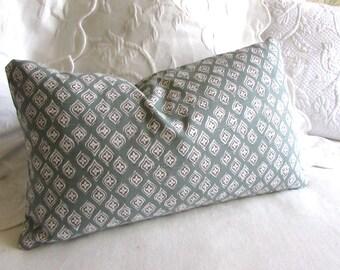 Jasmine Seaglass decorative Pillow 12x20 includes insert