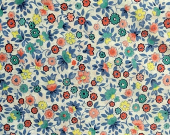 Vintage floral cotton fabric 2 yards