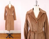 Vintage Camel Brown Velvet Coat M/L