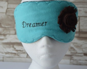 Dreamer Flannel Eye Mask for Sleep, Travel, etc. ~ READY TO SHIP ~ Gift for Her, Gift for Him, Teachers, Friends, All Occasion Gifts