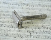 vintage Gillette  nickel double edge razor