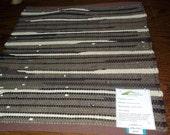 Handwoven Wool Rag Rug, (Woodruff,T/C,25)-076s