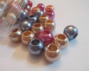 50 Metallic Beads Jewelry Making Supplies Jenuine Crafts