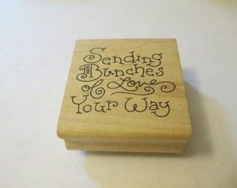 Sending Love Wooden Stamp Craft Supplies