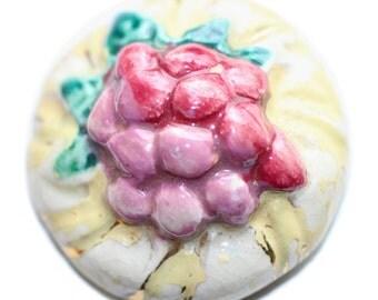 Button ~ Plaster Flower Large