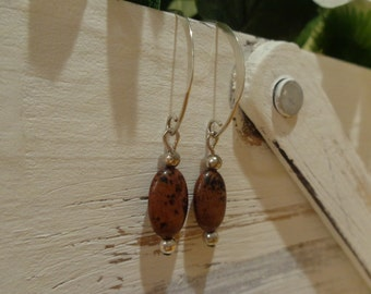 Dark brown dangle earrings